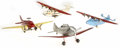 Antiques:Toys, Lot of Wyandotte and Marx Pressed Steel Airplanes.... (Total: 4 Items)
