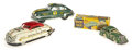 Antiques:Toys, Lot of Three Marx Tin Litho Cars.... (Total: 3 Items)