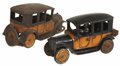 Antiques:Toys, Arcade and Freidag Cast Iron Taxi Cabs.... (Total: 2 Items)