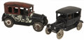 Antiques:Toys, Lot of Two Arcade Cast Iron Taxi Cabs.... (Total: 2 Items)
