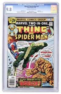 Marvel Two-In-One #17 Thing and Spider-Man (Marvel, 1976) CGC NM/MT 9.8 Off-white to white pages