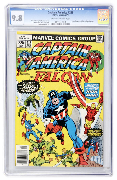 Captain America #218 (Marvel, 1978) CGC NM/MT 9.8 Off-white to white pages....