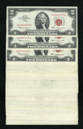 Small Size:Legal Tender Notes, Fr. 1513 $2 1963 Legal Tender Notes. Seventy-six Examples. AU to Gem CU.. Fr. 1514 $2 1963A Legal Tender Notes. Twenty-four Ex... (Total: 100 notes)