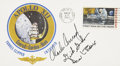 Explorers:Space Exploration, Apollo 12 Crew-Signed Insurance Cover Directly from the PersonalCollection of Mission Support Crew Member Paul Weitz, Certifi...