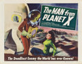 "Movie Posters:Science Fiction, The Man from Planet X (United Artists, 1951). Half Sheet (22"" X28"") Style B.. ..."