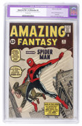 Silver Age (1956-1969):Superhero, Amazing Fantasy #15 (Marvel, 1962) CGC Apparent FN+ 6.5 Extensive(P) Off-white pages....