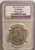 Coins of Hawaii, 1883 50C Hawaii Half Dollar--Harshly Cleaned--XF40 NCS. XF40Details. NGC Census: (18/271). PCGS Population (43/408). Minta...