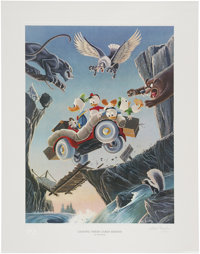 Carl Barks Leaving Their Cares Behind Regular Edition Lithograph #197/350 (Another Rainbow, 1995).... (Total: 2 Items)
