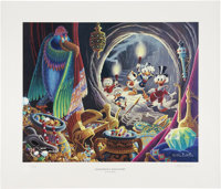 Carl Barks Dangerous Discovery Regular Edition Lithograph #302/350 (Another Rainbow, 1993).... (Total: 2 Items)