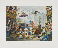 Carl Barks July Fourth in Duckburg Regular Edition Lithograph #340/350 (Another Rainbow, 1998).... (Total: 2 Items)