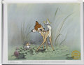 Animation Art:Production Drawing, Bambi and Thumper Limited Edition Serigraph Cel (Disney,undated)....
