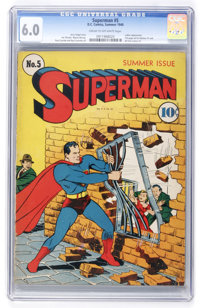 Superman #5 (DC, 1940) CGC FN 6.0 Cream to off-white pages