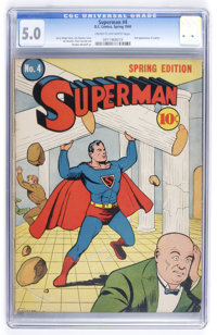 Superman #4 (DC, 1940) CGC VG/FN 5.0 Cream to off-white pages