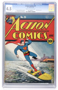 Golden Age (1938-1955):Superhero, Action Comics #25 (DC, 1940) CGC VG+ 4.5 Cream to off-white pages....