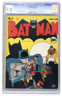 Batman #5 (DC, 1941) CGC FN/VF 7.0 Cream to off-white pages