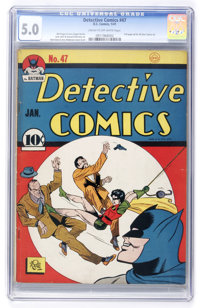 Detective Comics #47 (DC, 1941) CGC VG/FN 5.0 Cream to off-white pages