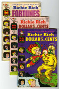 Silver Age (1956-1969):Humor, Richie Rich Dollars and Cents/Fortunes File Copy Group (Harvey, 1966-75) Condition: Average VF/NM.... (Total: 12 Comic Books)