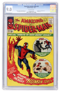 The Amazing Spider-Man #8 (Marvel, 1964) CGC VF/NM 9.0 Off-white pages
