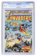 Bronze Age (1970-1979):Superhero, The Invaders #1 (Marvel, 1975) CGC NM+ 9.6 Cream to off-white pages....