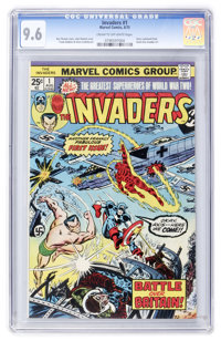 The Invaders #1 (Marvel, 1975) CGC NM+ 9.6 Cream to off-white pages