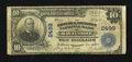 National Bank Notes:Maryland, Baltimore, MD - $10 1902 Plain Back Fr. 633 The Drovers &Mechanics NB Ch. # 2499. ...