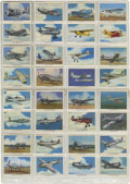 Miscellaneous Collectibles:General, 1930's Wing Cigarettes Group Lot of 196. Includes all 50 first series cards, 48 of 50 series A cards, all 50 series B cards ...