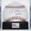 "Autographs:Baseballs, Jim Palmer ""HOF 90"" Single Signed Baseball, PSA Gem Mint 10.Spending his entire career with the Orioles, pitcher Jim Palmer..."