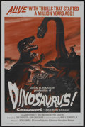 "Movie Posters:Science Fiction, Dinosaurus! (Universal International, 1960). One Sheet (27"" X 41"").Science Fiction.. ..."