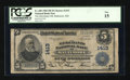 National Bank Notes:Maryland, Baltimore, MD - $5 1902 Plain Back Fr. 606 The Merchants NB Ch. #1413. ...