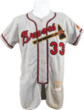 Baseball Collectibles:Uniforms, 1957 Lew Burdette Game Worn Jersey....