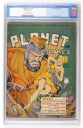 Golden Age (1938-1955):Science Fiction, Planet Comics #16 (Fiction House, 1942) CGC VG/FN 5.0 Cream tooff-white pages....