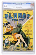 Golden Age (1938-1955):Science Fiction, Planet Comics #20 (Fiction House, 1942) CGC VG/FN 5.0 Slightlybrittle pages....