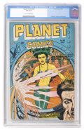 Golden Age (1938-1955):Science Fiction, Planet Comics #49 (Fiction House, 1947) CGC VF+ 8.5 Tan tooff-white pages....