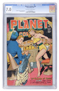 Golden Age (1938-1955):Science Fiction, Planet Comics #50 (Fiction House, 1947) CGC FN/VF 7.0 Off-white towhite pages....