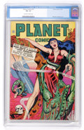 Golden Age (1938-1955):Science Fiction, Planet Comics #51 (Fiction House, 1947) CGC FN- 5.5 Off-white towhite pages....