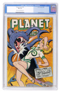 Golden Age (1938-1955):Science Fiction, Planet Comics #52 (Fiction House, 1948) CGC FN- 5.5 Light tan tooff-white pages....