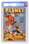 Golden Age (1938-1955):Science Fiction, Planet Comics #55 (Fiction House, 1948) CGC VF- 7.5 Cream tooff-white pages....