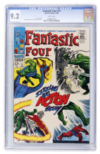 Fantastic Four #71 (Marvel, 1968) CGC NM- 9.2 White pages