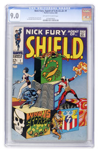 Nick Fury, Agent of S.H.I.E.L.D. #1 (Marvel, 1968) CGC VF/NM 9.0 Off-white to white pages
