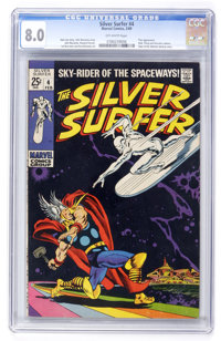 The Silver Surfer #4 (Marvel, 1969) CGC VF 8.0 Off-white pages