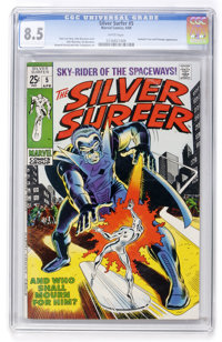 The Silver Surfer #5 (Marvel, 1969) CGC VF+ 8.5 White pages