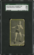 Boxing Cards:General, 1910 Red Sun Cigarettes T226 Knockout Brown SGC 20 Fair 1.5....