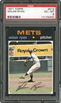 Baseball Cards:Singles (1970-Now), 1971 Topps Nolan Ryan #513 PSA EX-MT 6....