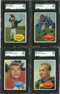 Football Cards:Lots, 1960 Topps Football SGC-Graded Collection (4)....
