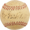 "Autographs:Baseballs, Circa 1927 ""Babe"" Ruth Single Signed Mini Baseball...."