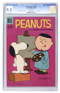 Silver Age (1956-1969):Humor, Four Color #1015 Peanuts (Dell, 1959) CGC NM- 9.2 Off-white pages....