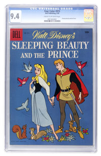 Four Color #973 Sleeping Beauty and the Prince (Dell, 1959) CGC NM 9.4 Cream to off-white pages