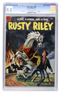 Four Color #486 Rusty Riley (Dell, 1953) CGC NM- 9.2 Cream to off-white pages