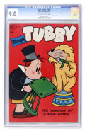 Golden Age (1938-1955):Humor, Four Color #430 Tubby (Dell, 1952) CGC VF/NM 9.0 Off-white to white pages....
