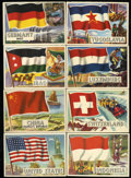"Non-Sport Cards:General, 1956 Topps ""Flags of the World"" Complete Set (80). ..."